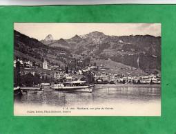 Montreux Vue Prise De Clarens (bateau à Vapeur De Montreux - Steamboat - Canton De Vaud) - VD Vaud