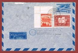 Luftpostleichtbrief Ganzsache  1 SCH & Zusatzfrankatur Hohenems - Heidelberg 7/3/1949 - 1945-60 Lettres