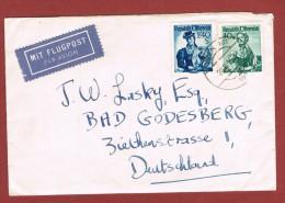 Luftpostbrief  Wien Bad Godesberg Deutschland 20/10/1955?? - 1945-60 Briefe U. Dokumente