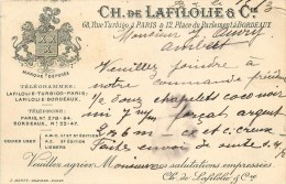 PARIS 3° ARRONDISSEMENT - CPA PRECURSEUR SOCIETE CH.de LAFILOLIE & Cie. 68, RUE DE TURBIGO - Paris (03)