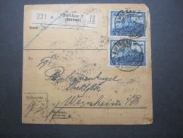 1923 , Paketkarte Aus Zwickau  , 2 Scans - Briefe U. Dokumente