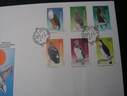 == Zimbabwe , 1984   FDC Adler , Birds .. Vögel  297-302 - Zimbabwe (1980-...)