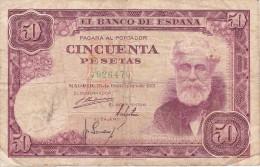 BILLETE DE ESPAÑA DE 50 PTAS DEL 31/12/1951 SIN SERIE  CALIDAD RC  (BANKNOTE) - [ 3] 1936-1975 : Régence De Franco