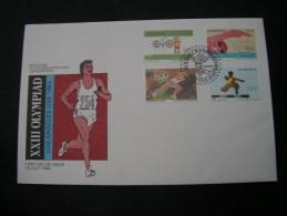 == Zimbabwe 1981980-184 Sport Olympiade   2 FDC Lot - Zimbabwe (1980-...)