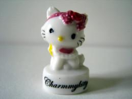 Fève Brillante - Charmmykitty - Hello Kitty - Chaton Avec Serre-tête Fushia - Sanrio - Animaux