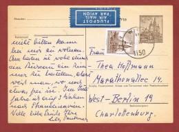 Ganzsache Correspondenzkarte 1 Sch. Mit Zusatzfrankatur  Sch Luftpost   Wien Berlin - 1945-60 Briefe U. Dokumente