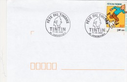 TINTIN         FETE DU TIMBRE 2000  CHERBOURG - FDC