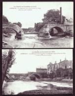 LOT 2 CPA ANCIENNES FRANCE- LUNEVILLE (54) DESTRUCTION DU PONT DE VILLER- TRES GROS PLAN- BLANCHISSERIE- - Luneville