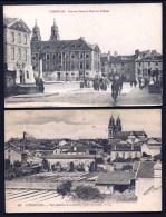 LOT 2 CPA ANCIENNES FRANCE- LUNEVILLE-  PONT DU CANAL AVEC TROUPES ALLEMANDES + VUE GENERALE AVEC JARDIN MARAICHER- - Luneville
