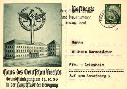 Propaganda Ganzsache P237 Haus Des Deutschen Rechts, Versandt Von Fankfurt N. Ffm-Griesheim - Germany