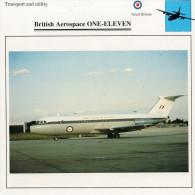 BRITISH  AEROSPACE  ONE--ELEVEN   2 SCAN  (NUOVO CON DESCRIZIOENE TECNICA  SUL RETRO) - 1946-....: Moderne