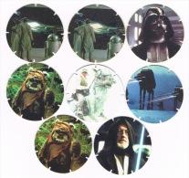 RB 1085 - 8 Walker Crisps - Star Wars Tazos Rounds - Some Duplication - Merchandising
