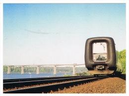 RB 1085 - Railway Postcard - Broen Over Vejle Fjord Og IC3 Full Written Details On Reverse - Denmark Zealand - Treinen