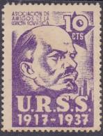 GUERRA CIVIL - ASOCIACION DE AMIGOS DE LA UNION SOVIETICA - U.R.S.S 1917 - 1937 - 10 CTS - Viñetas De La Guerra Civil