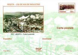 Romania / Postal Stationery / Industry / Resita - Factories & Industries