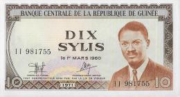 Billet - Guinée - Dix Sylis - 1er Mars 1960...1971 - Guinea