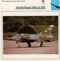 DASSAULT-BREGUET  MIRAGE  IIIR      2 SCAN  (NUOVO CON DESCRIZIOENE TECNICA  SUL RETRO) - 1946-....: Moderne