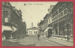 Leuze - Rue De La Liberté, Gare En Arrière-plan - 1920  ( Voir Verso ) - Leuze-en-Hainaut