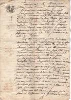 VP3051- Cote D´Or - Empire - Acte Entre Mmes PARIGOT Acquet D´une Portion De Maison à BEAUNE - Manuscrits