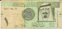 Banconota   ARABIA  SAUDITA   One Riyal - Anno 2009 - Arabia Saudita