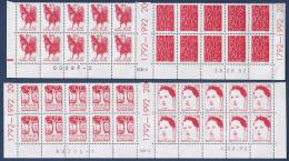 FRANCE - N°2772/2775 - Série En Coin Daté - Panneau Complet De 20 Avec Pont Central **. 1792 - 1992. - 1990-1999