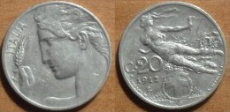 1912 - Italie - Italy - 20 CENTESIMI, (R), VITTORIO EMANUELE III, KM 44 - 1900-1946 : Victor Emmanuel III & Umberto II