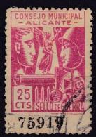 GUERRA CIVIL - ALICANTE - EDIFIL Nº 17 - CONSEJO MUNICIPAL DE ALICANTE - Viñetas De La Guerra Civil