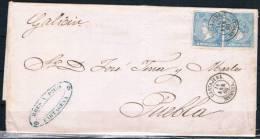 1866.- CARTAGENA (MURCIA) A PUEBLA DEL CARAMIÑAL - 1850-68 Kingdom: Isabella II