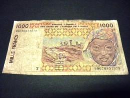 TOGO 1000 Francs 1999,pick KM N° 811T I, TOGO ,WEST AFRICAN STATES - Togo