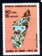 MADAGASCAR - 1981 - JOURNEE DU TIMBRE - POSTE AERIENNE - 90 FMG - - Madagascar (1960-...)
