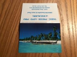 """Calendrier 2012 """"L´ESCALIER VILLEFRANCHE S/S (69) / SEYCHELLES (palmiers, Bateau)"""" (11x15,5cm) - Small : 2001-..."""