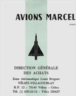 AVIATION  AVIONS MARCEL DASSAULT BREGUET AVIATION VELIZY 1981 LETTRE SIGNEE+ CIRCULAIRE QUALITE B.E.V.SCANS - 1950 - ...
