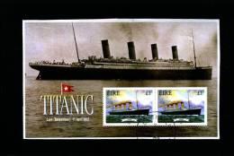 IRELAND/EIRE - 1999  TITANIC MS  FINE USED - Blocchi & Foglietti