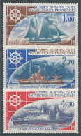 French Antarctic (FSAT), Ships, 1976, MNH VF  Airmail, Complete Set Of 3 - Airmail