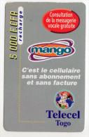 TOGO Prepayé TELECEL MANGO 5000 FCFA - Togo