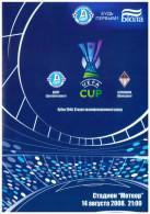 Programme Football 2008/9 Dnepr (Ukraine Soviet Union) C Bellinzona (Switzerland) UEFA Cup - Boeken