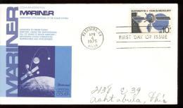 FDC 1975 - Scott 1557 - Cancelled PASADENA - MARINER 10 - VENUS - MERCURY - Premiers Jours (FDC)