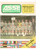 Programme Football ASSE Saint Etienne (France) C St Mirren (Scotland) UEFA Cup Score Written On Cover - Libros