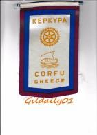 Fanion:  KEPKYPA CORFU - GREECE       * ROTARY CLUB INTERNATIONAL * - Organisations