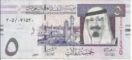 Banconota   ARABIA  SAUDITA  -  5  FIVE  RIYALS - Anno 2009 - Arabia Saudita