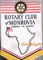 Fanion:  MONROVIA - LIBERIA - W.AFRICA     * ROTARY CLUB INTERNATIONAL * - Organisations