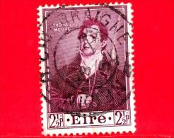 IRLANDA - EIRE - Usato - 1952 - 100 Anni Della Morte Di Thomas Moore, Poeta -  2 ½ - 1949-... Repubblica D'Irlanda