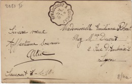 VOSGES - Rimaucourt à Gudmont- Carte Postale -CAD-Oblitération Ferroviaire-1918 - Poststempel (Briefe)