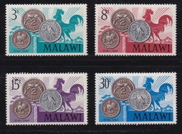 MALAWI, 1971, Mint Hinged Stamps, Coins On Stamps,144-147, #4531 - Malawi (1964-...)