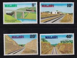 MALAWI, 1979, Mint Hinged Stamps, Salima-Lilongwe Railway, 324-327, #4574 - Malawi (1964-...)