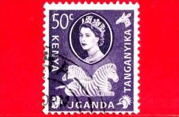 Kenya - Uganda - Tanganyka - Usato -  1960 - Queen Elizabeth II E Zebra - 50 C - Kenya, Uganda & Tanganyika