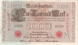 Germany - Pick 45 - 1000 Mark 1910 - VF+ - [ 2] 1871-1918 : Impero Tedesco