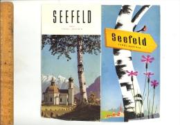 SEEFELD TYROL ÖSTERREICH : Tourism Advertising Folder - Tourism Brochures
