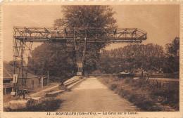 MONTBARD - La Grue Sur Le Canal - Montbard
