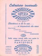 "03976 ""CALZATURE INVERNALI - PANTOFOLE - SUPERGA - MARCA DEPOSITATA - INDUSTRIA GOMMA TORINO - CARTA ASSORBENTE"" - Scarpe"